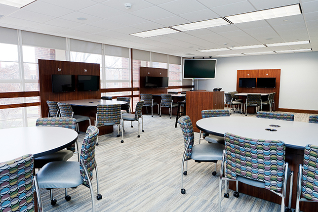 6 secrets of active learning classroom design campus technology for Interior design schools in oklahoma