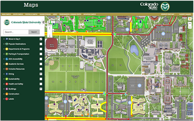 Salem College Campus Map.Colorado State U Launches Interactive Map Campus Technology