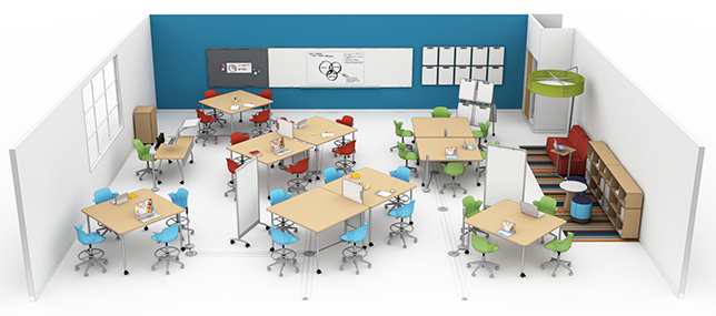 Classroom Redesign ~ Steelcase education grant offers classroom