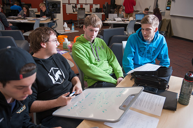 st norbert 39 s computer science lab provides space for students to