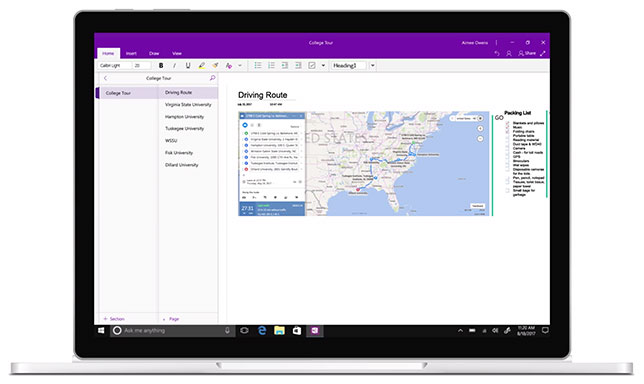 OneNote accessibility updates